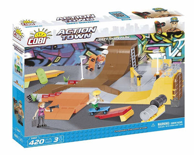 COBI - Construction Blocks, Action Town: Crazy Skatepark - 420pc