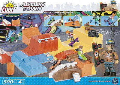 COBI - Construction Blocks, Action Town: Mega Skatepark - 500pc