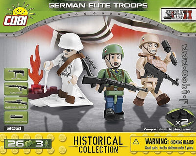 COBI - Construction Blocks, Historical Collection WWII: German Elite Troops - 26pc