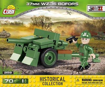 COBI - Construction Blocks, 37MM WZ36 BOFORS 70PCS