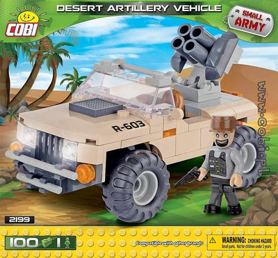 COBI - Construction Blocks, DESERT ARTILLERY VEHICLE 100PC