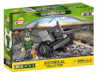 COBI - Construction Blocks, 7.5CM PAK 40 ANTI-TANK 70PCS