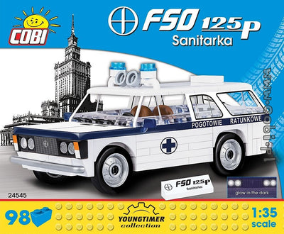 COBI - Construction Blocks, Youngtimer Collection: FSO 125P Santikara Ambulance - 98pc