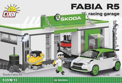 COBI - Construction Blocks, Skoda: Fabia R5 Racing Garage Set - 535pc