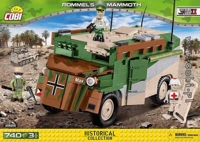 COBI - Construction Blocks, ROMMEL'S MAMMOTH 735PC