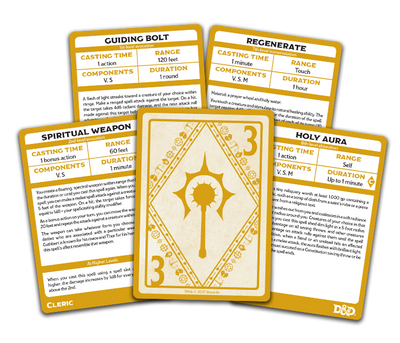 Role Playing Games, Spellbook Cards: Cleric