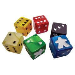 Meeple D6 Dice Set - Yellow