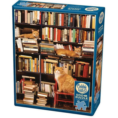 Jigsaw Puzzles, Gotham Bookstore Cats - 500pc