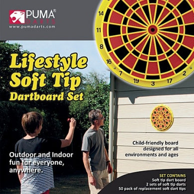 Darts, Lifestyle Soft Tip Dartboard Set