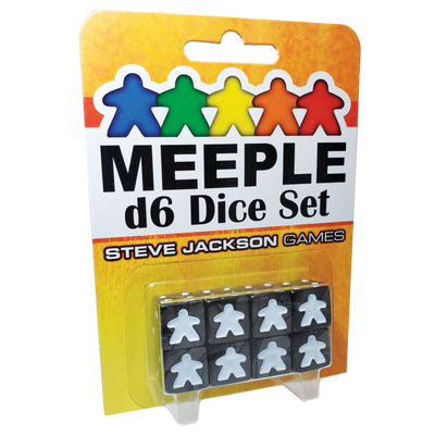 Accessories, Meeple D6 Dice Set - Black
