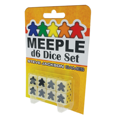 Accessories, Meeple D6 Dice Set - White/Ivory