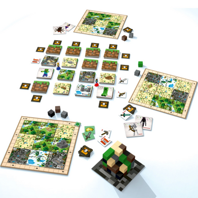 Kids Games, Minecraft: Builders & Biomes Board Game
