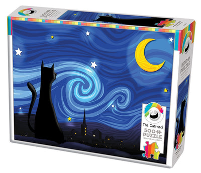 Jigsaw Puzzles, Mrowwy Night Cat - 500pc
