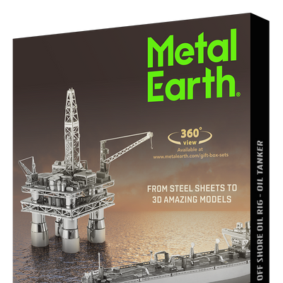 3D Jigsaw Puzzles, Metal Earth: Offshore Oil Rig & Oil Tanker Gift Set