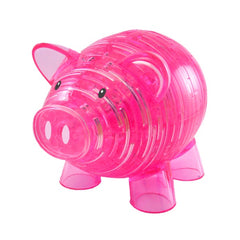 PINK PIGGY BANK CRYSTAL PUZZLE