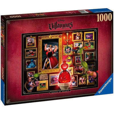 Jigsaw Puzzles, Villainous's Queen of Hearts - 1000pc