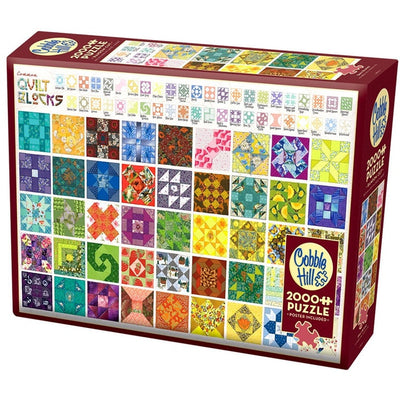 Jigsaw Puzzles, Quilt Blocks - 2000pc