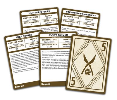 Role Playing Games, Spellbook Cards: Ranger