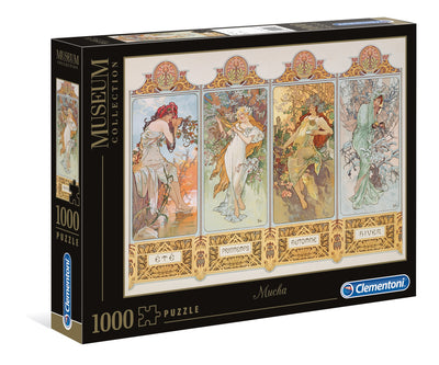 Jigsaw Puzzles, The 4 Seasons by Alphonse Mucha - 1000pc