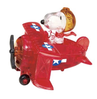 3D Jigsaw Puzzles, SNOOPY RED BARON CRYSTAL PUZZL