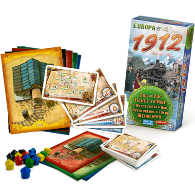 Board Games, Ticket to Ride - Europe: 1912 Expansion