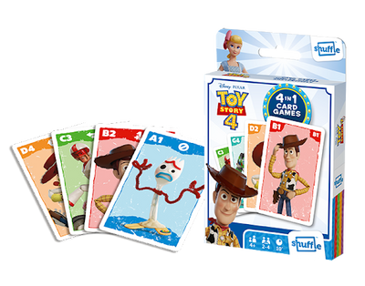 Card Games, Shuffle 4 in 1: Toy Story 4