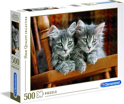 Jigsaw Puzzles, Two Grey Kittens - 500pc