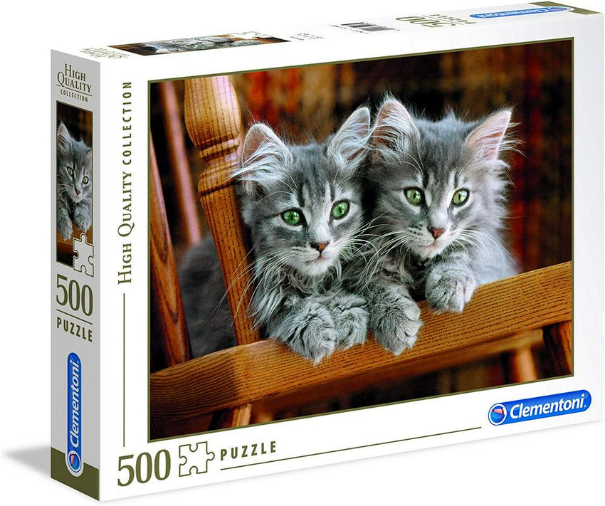 Two Grey Kittens - 500pc