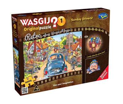 Jigsaw Puzzles, Wasgij Original 1: Sunday Drive - 500pc XL