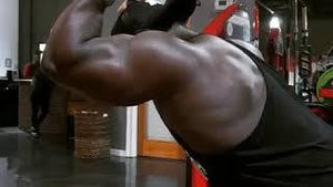 Workout with IFBB Pro Terrence Ruffin: ARM DAY OVERHEAD TRICEP EXTENSION