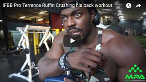 Terrence Ruffin back workout