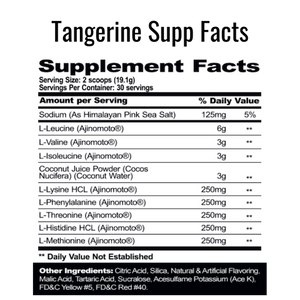 PharmGrade EAA Tangerine Supplement Facts