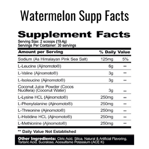 PharmGrade EAA Watermelon Supplement Facts