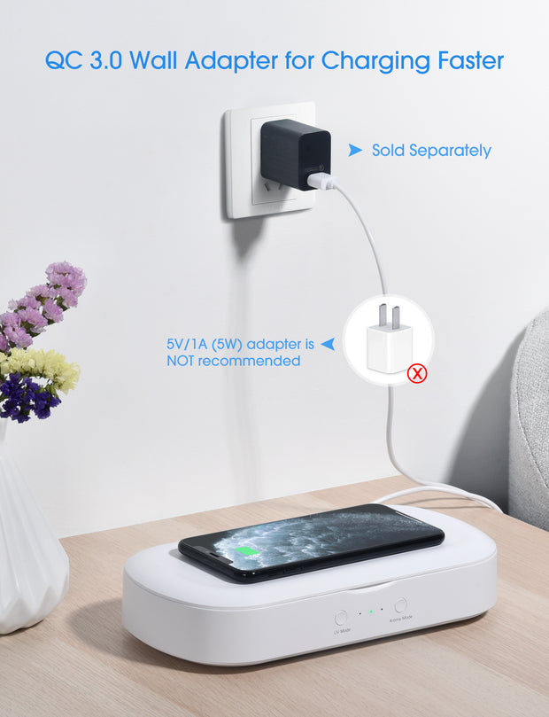 UV Light Sanitizer with Wireless Charger