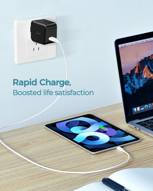 20W USB C Charger - Black