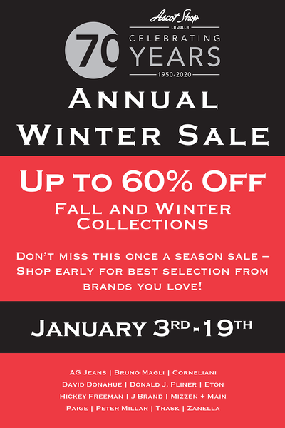 Annual Fall and Winter Sale On Now!
