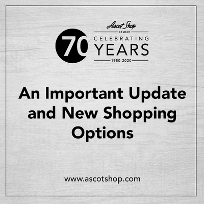 An Important Update and New Shopping Options