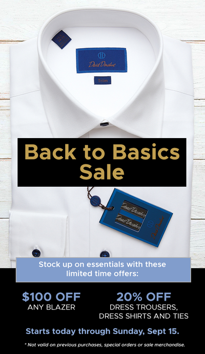 Back to Basics Sale!