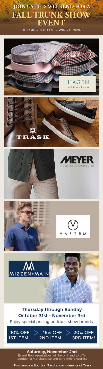Fall Casual Trunk Show Event