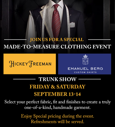 Fall Made-to-Measure Event!
