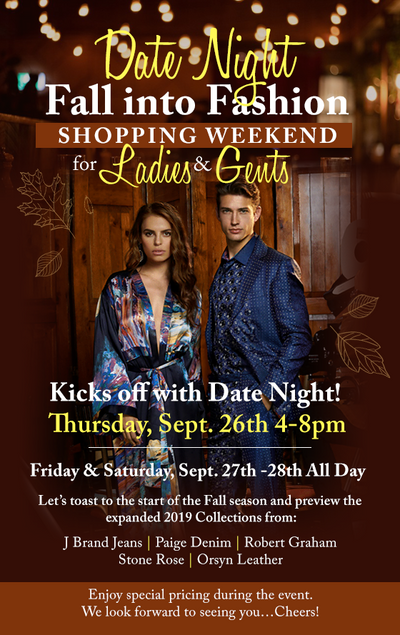 Date Night - Fall Into Fashion Shopping Weekend