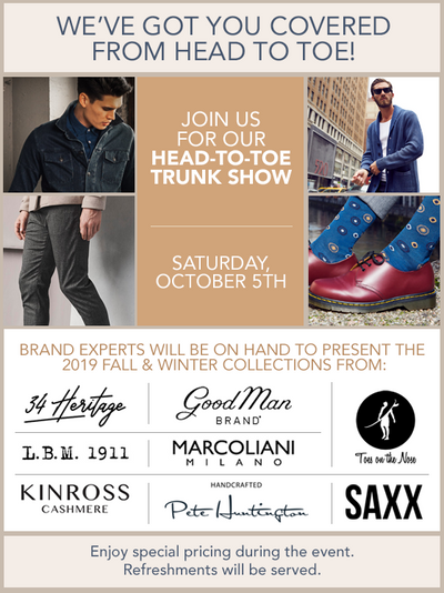 Fall Head-to-Toe Trunk Show