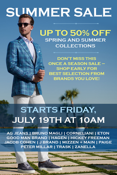 Up to 50% off! Summer Sale Starts Tomorrow!