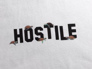 WHITE TEE TURTLE ARTWORK - HOSTILE