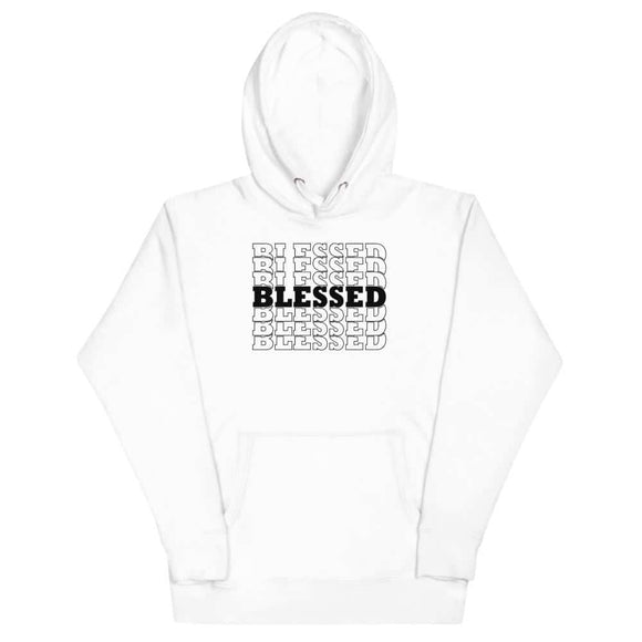 Blessed Words Unisex Hoodie - White / S