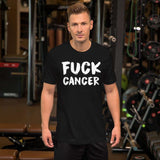 Fuck Cancer Tshirt Hate Cancer Tee Breast Cancer