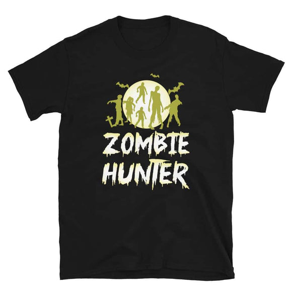 Halloween Zombie Hunter Bat T shirt Funny Gift Men Kids Boys