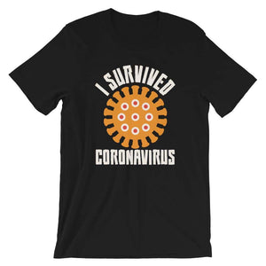 I survived coronavirus Short-Sleeve Unisex T-Shirt - Black /
