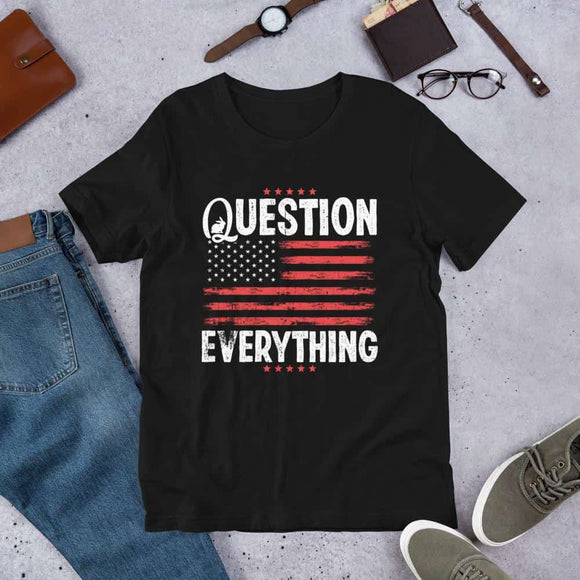 question everything Short-Sleeve Unisex T-Shirt - Black / XS