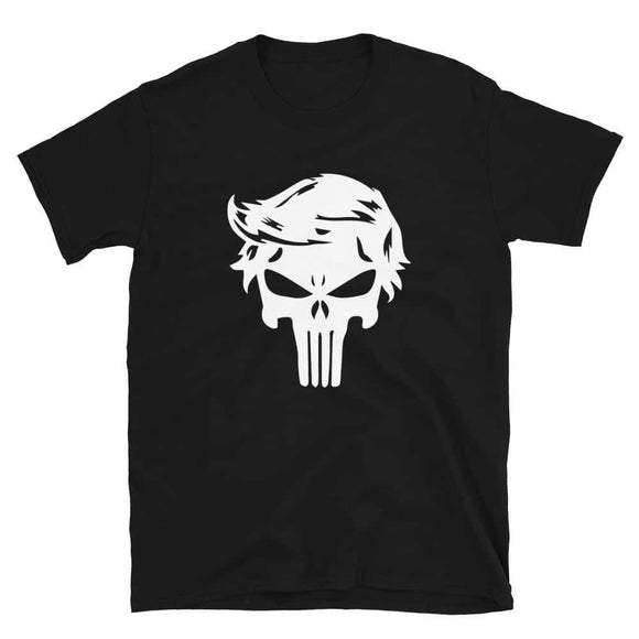 Trump Punisher Skull Short-Sleeve Unisex T-Shirt - Black / S